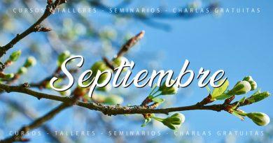 Calendario de cursos y actividades Septiembre 2020